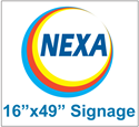 "Picture of Nexa Branded Signage 16""x49"""