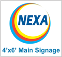 Picture of Main Sign Face with Nexa Branding 4'x6'